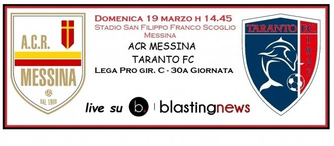 Lega Pro gir. C 30a giornata: Messina-Taranto 3-1