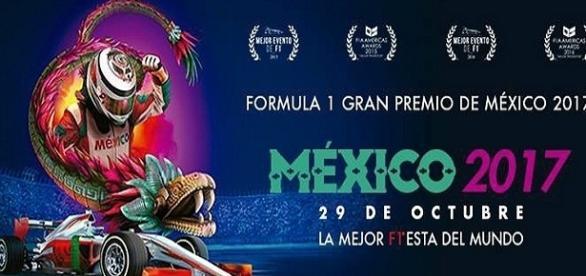 poster oficial, del Gran Premio de F1-México-2017