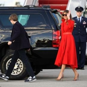 Barron Trump's maiden voyage on board Air Force One? Photo: Blasting News Library - dailymail.co.uk