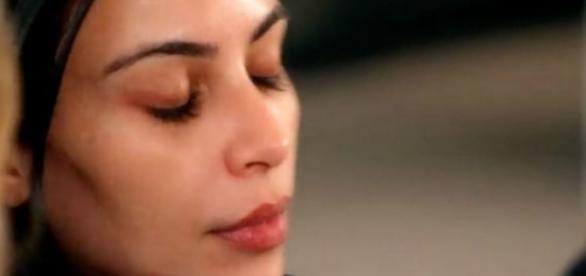 Kim Kardahian no novo episódio de KUWTK