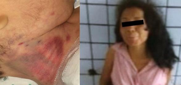Mãe mata bebezinho pelo pescoço - Google