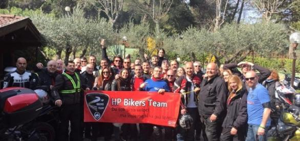 Un motoraduno HP Biker Team di Roma