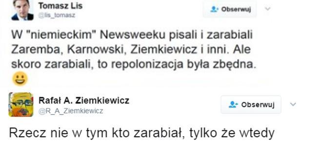 Ziemkiewicz BEZ LITOŚCI PUNKTUJE Lisa na twitterze!
