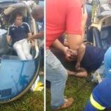 Nas imagens feitas por cinegrafistas amadores é possível ver os estragos deixados pelo acidente.