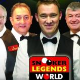 The Snooker Legends: From Taylor,(Left) to Cliff Thorburn, (Right)