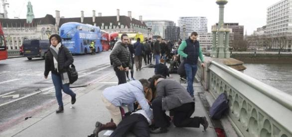 Víctimas del atentado de esta tarde en Londres.