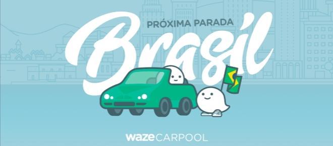 O serviço de caronas da Waze chega ao Brasil