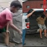 Pai ensina filho a trabalhar e é punido.