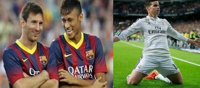 Messy, Neymar y James brillan y acercan a sus selecciones a Rusia 2018