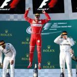 F1: La Ferrari di Sebastian Vettel sul gradino più alto del podio. ABS-CBN News - abs-cbn.com