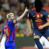 Leo Messi con la camiseta del Barça