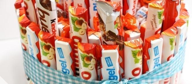 Kinder-Schokolade in Tortenform