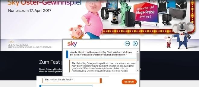 Sky Service im Peinlich-Chat: Wenn Jakob die Osteraktion erklärt!