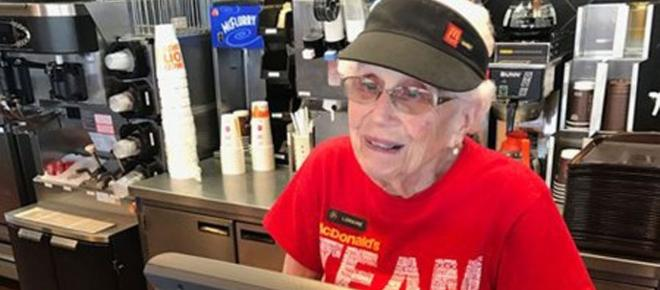 94-year-old McDonald employee celebrates 44 years on the job