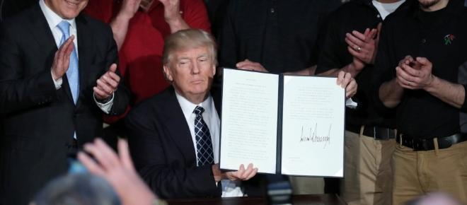The executive order signed by Trump to dismantle Obama's environmental policy