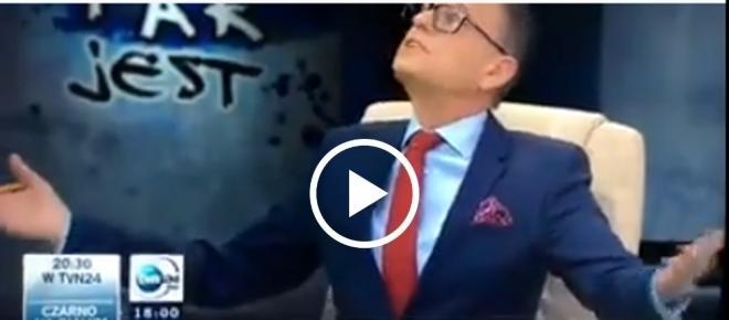 Co tam się działo?! TVN24 przerywa program na żywo, bo w studiu... [WIDEO]