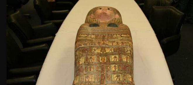 $100 million dollars in artifacts shipped to United States