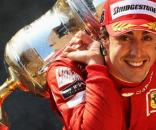 Fernando Alonso during happy times at Ferrari. (Source:pinterest.com)