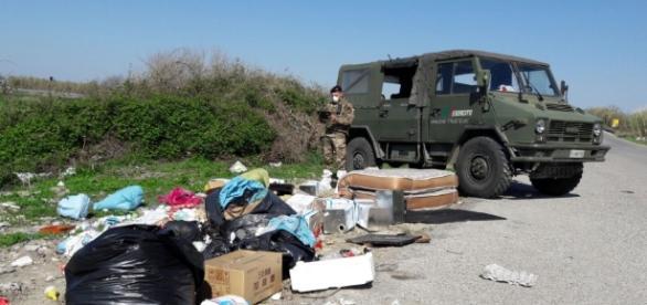 Militari impegnati nella 'Terra dei fuochi' (esercito.difesa.it)