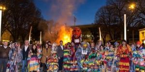 """""""Queima do diabo"""" - Carnaval dos caretos 2017, em Bragança"""