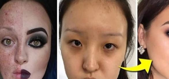 Transformações incríveis usando maquiagem.