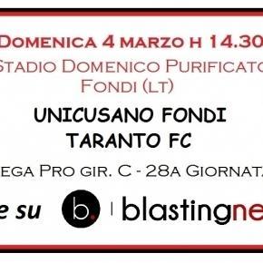 Segui la diretta di Unicusano Fondi-Taranto su Blasting News.