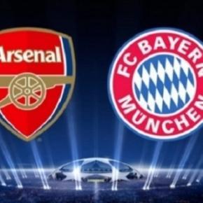 O Bayern de Munique venceu o Arsenal por 5-1 na 1.ª mão