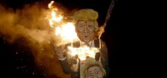 Trump' Goes Down in Flames During Britain's Bonfire Night - newsweek.com