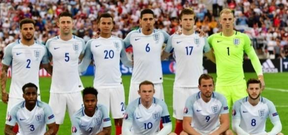 England's starting eleven at the European Championships in 2016