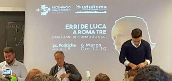 Erri De Luca incontra gli studenti a Roma Tre
