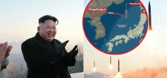 Patru rachete balistice au fost lansate de către Coreea de Nord înspre bazele militare SUA din Japonia