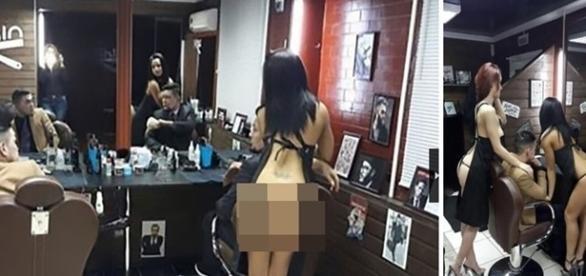 Salão inusitado funciona com cabeleiras que trabalham sem roupa.