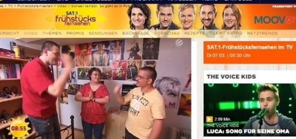 """Schwer verliebt"" Ausschnitt mit der ermordeten Sarah H. aktuell auf sat.de / Fotos: Sat.1.de; Sarah H./Facebook"