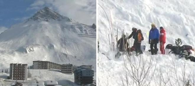 Avalanche rips through French ski resort Tignes for the second time this year