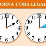 Quando torna l'ora legale? Appuntamento a domenica 26