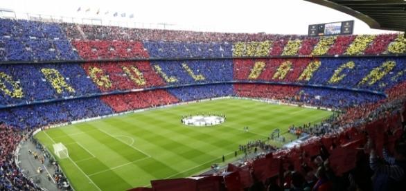 Camp Nou en un partido del Barça en Champions