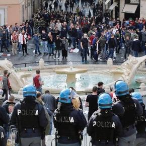 Protesta della Polizia di Stato contro il governo.