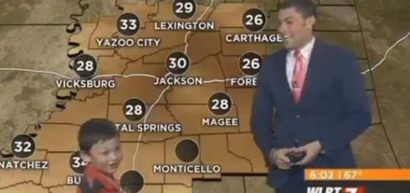 Invasão durante programa ao vivo da previsão do tempo
