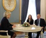 Candidata la președinția Franței Marine Le Pen s-a întâlnit la Moscova cu Președintele Vladimir Putin - Foto: kremlin.ru