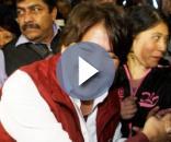 Delfina Gómez, en campaña. Fuente Proceso.com
