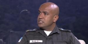 Major Ivan Blaz em entrevista à Rede Globo