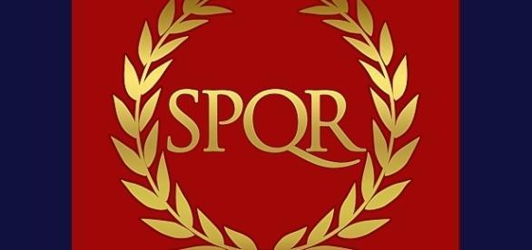 Vexillum rzymskiej armii konsularnej (4 do 8 legionów) z symbolem wiecznego słońca.