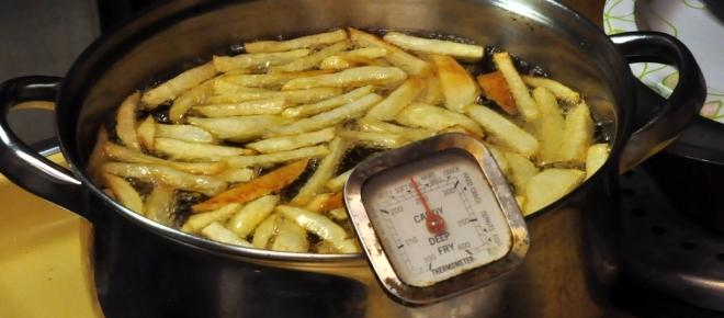 Recipe Revisionist - a surprising twist on fried chips - start with cold oil