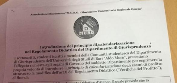 Il modulo di raccolta firme per l'inserimento del principio di calendarizzazione