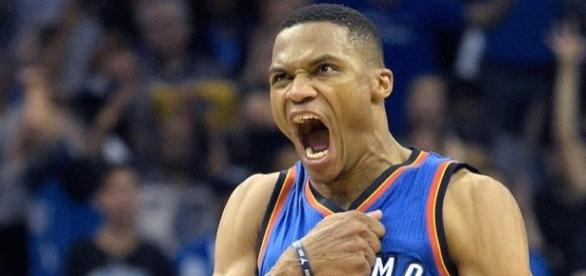 Russell Westbrook achieved his 42nd triple-double of the season on Sunday making NBA history. [Image via Blasting News image library/inquisitr.com]