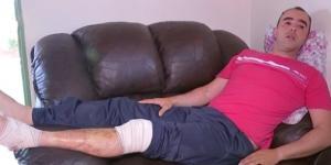 Alessandro teve ferimento nas pernas