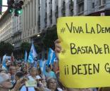 Marcha del #1A, con un claro apoyo al presidente Macri