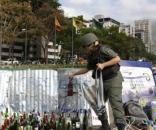 Material usado por opositores violentos en Venezuela