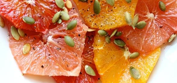 Dessert di agrumi alla cannella