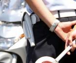 Vigili urbani in servizio in strada